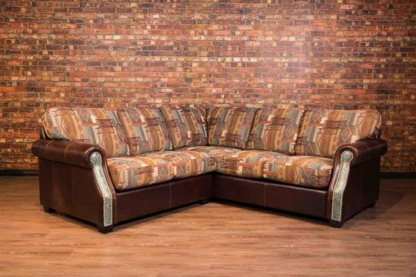 Texas leather sectional /fabric