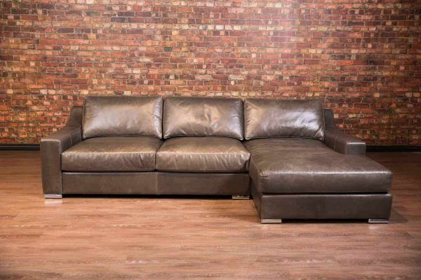 capris leather sofa chaise