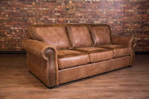 leather sofa with croc