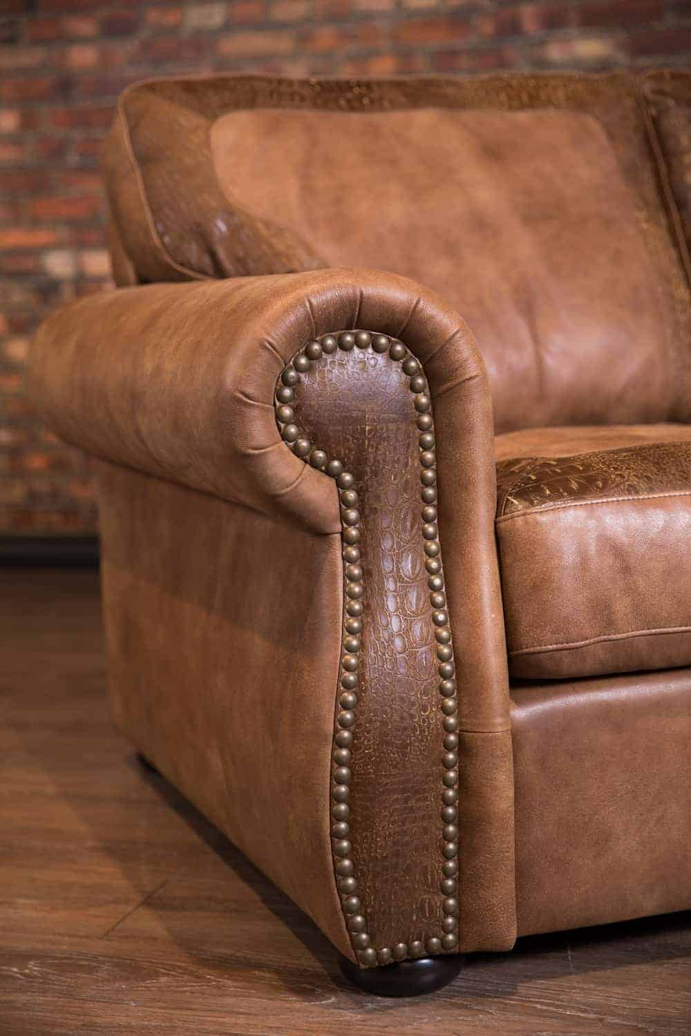 The Hoss Leather Sofa Limited Edition Croc Combo | Canada ...