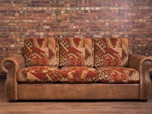 hoss leather fabric sofa 1