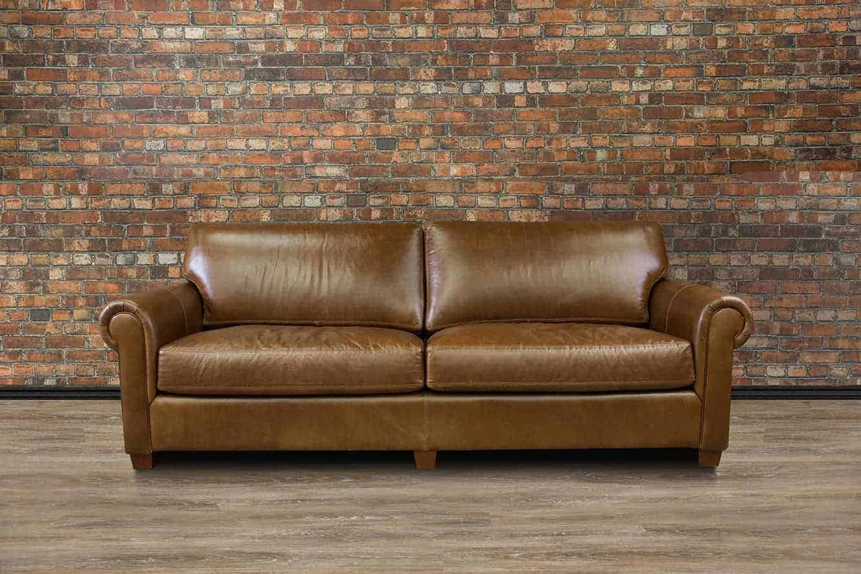 Lancaster Regular Deep Seat Leather Sofa Canada S Boss