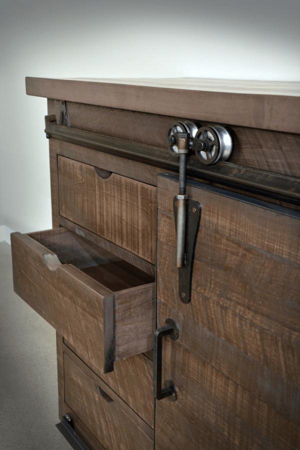 barndoor sideboard