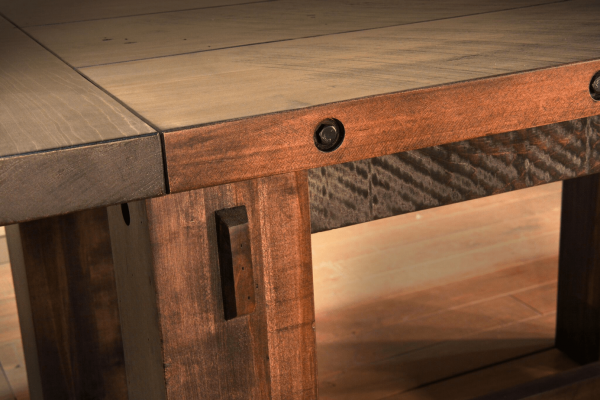 Frontier Collection Wood Table Detail
