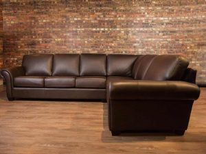 bella sectional boss leather