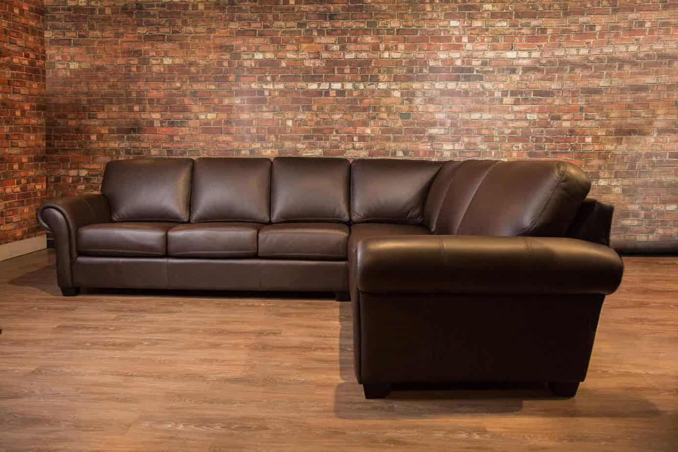 The Bella Leather Sectional Lhf Canada S Boss Leather