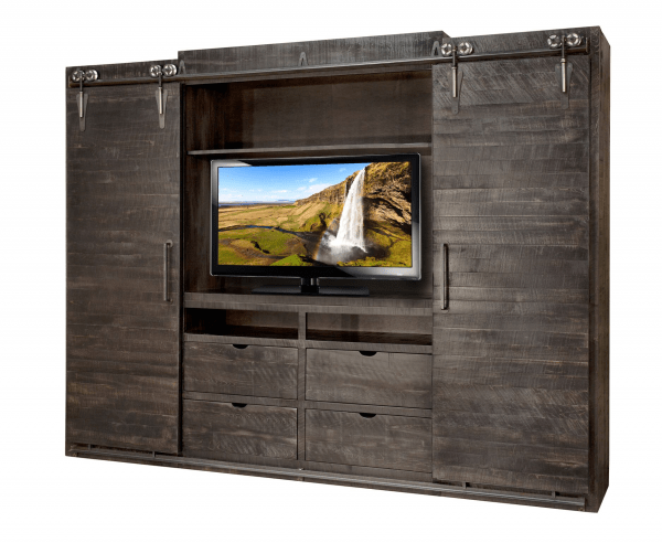 Rustic pioneer tv stand