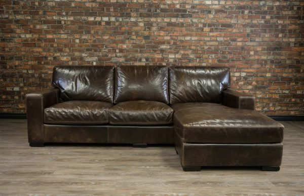 maxell leather sofa chaise
