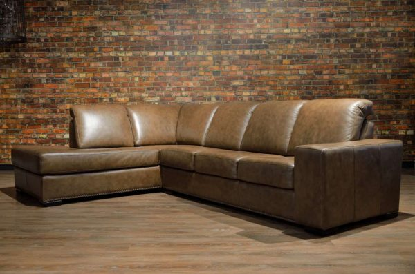zues leather sectional