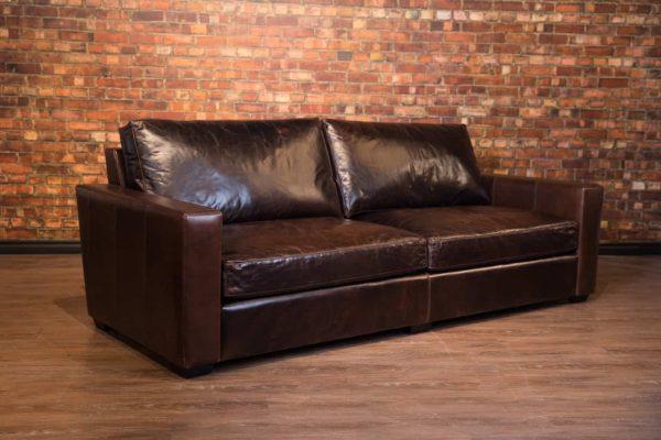 maxilla leather sofa