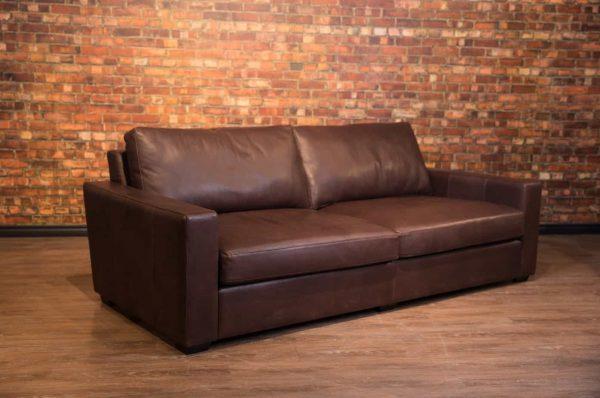 maximilla deep seat leather sofa
