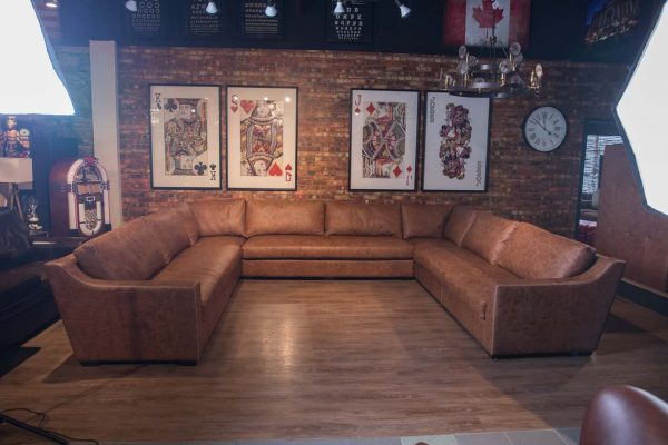 Royal Chalet leather sectional