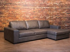mohawk leather sofa chaise