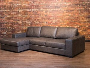 mohawk leather sofa