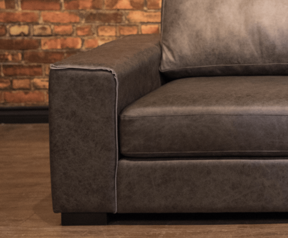 The Mohawk Leather Sectional Lhc Canada S Boss Leather