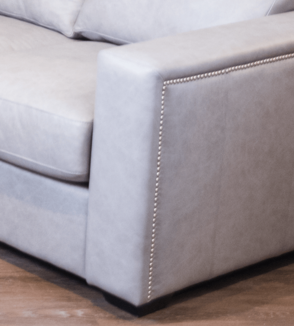 friuli leather sectional arm detail