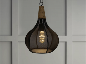 cork and mesh pendant lighting