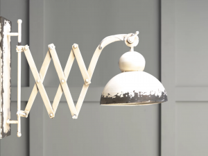 wall accordion lighting (white distressed)