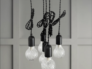 hanging bulbs set of 6