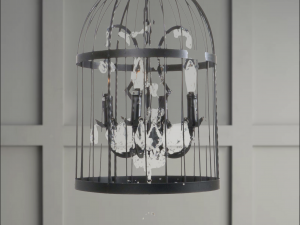 Metal Cage Chandelier