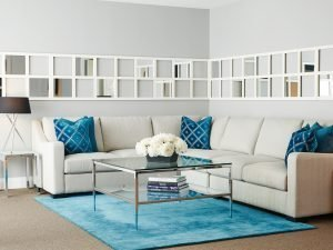 loft collection fabric sectionals