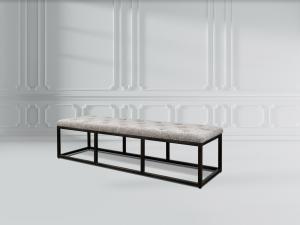 tuft bench fabric ottoman