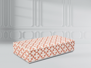 Tailored fabric ottoman