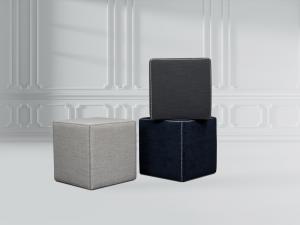 cube fabric ottoman