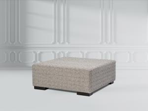 square fabric ottoman
