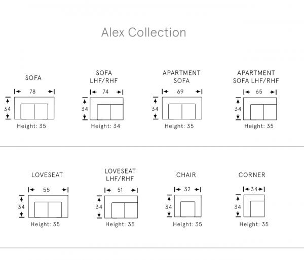 Alexandria fabric sofas sofa