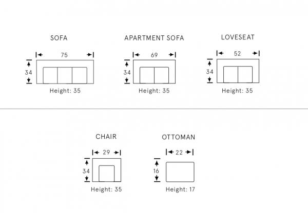 Alisan fabric sofa