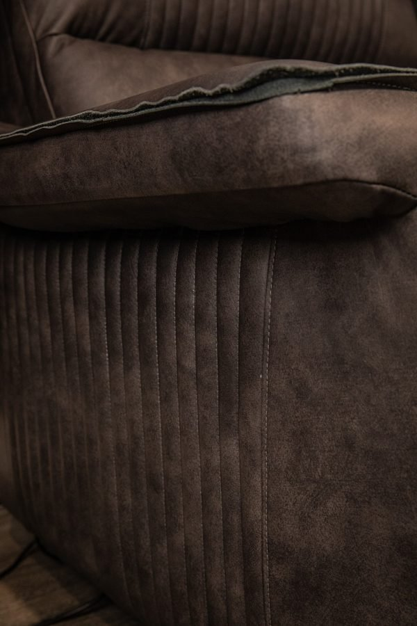 detail reclining leather sofa