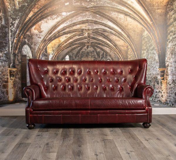 aficionado lux back leather sofas