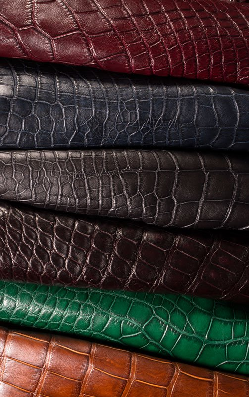 embossed leather hides