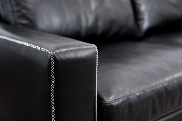 milano detail arm leather sofas