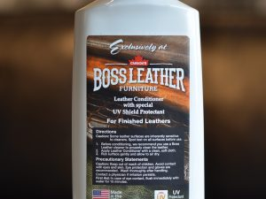 Leather conditioner with UV