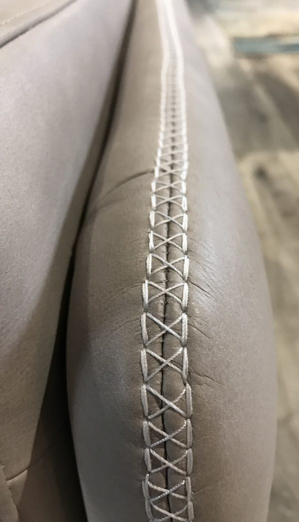 special stitching on the medici leather sofa