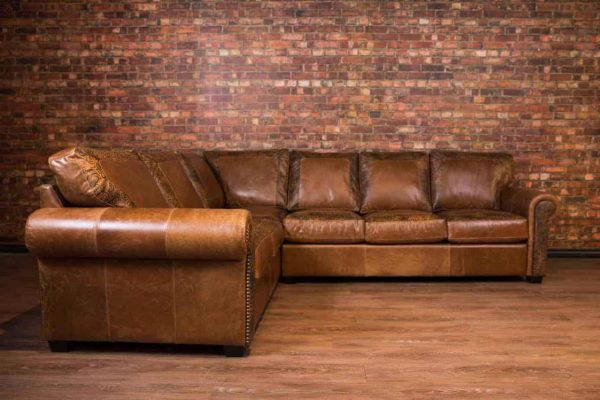 old west leather sofa sectional