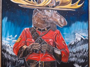 mountie moose painting