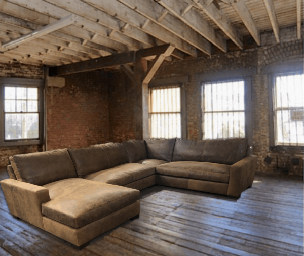 maxell leather sectional
