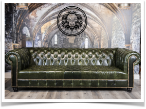 Tufted leather sofa nobility