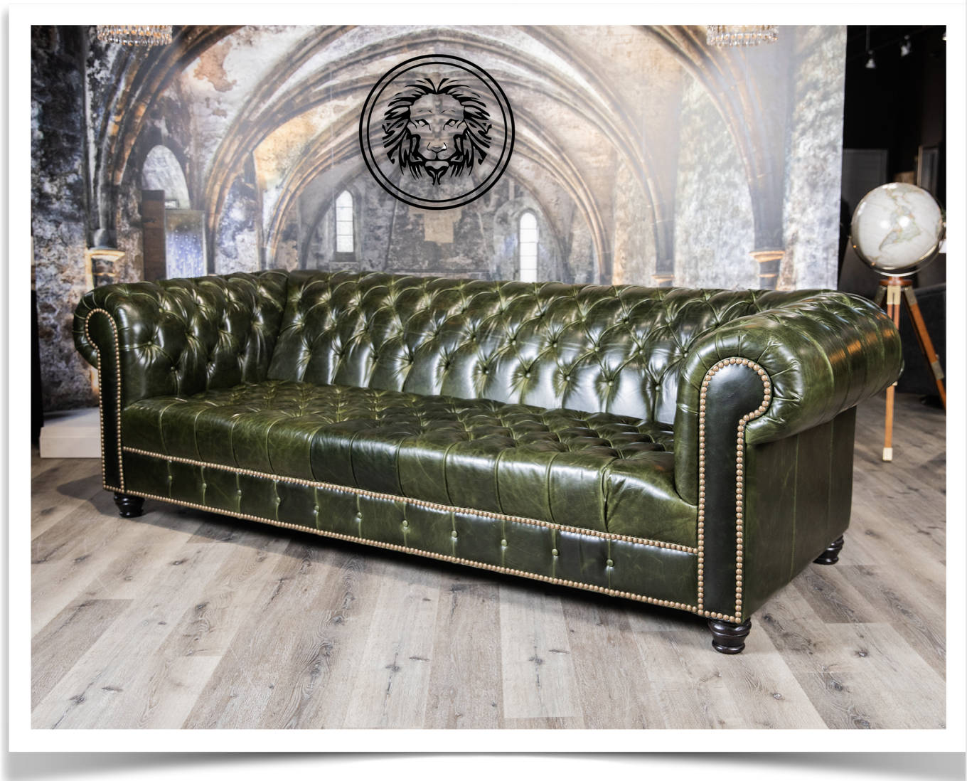 Picture of: Royal Elegance Tufted Sofa Emerald Green Canada S Boss Leather Sofas And Furniture