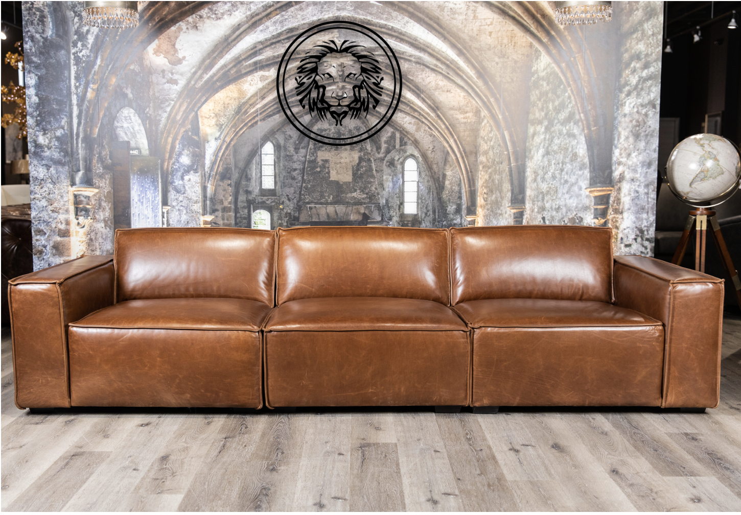 Commander Leather Modular Sofa Canada