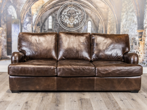 old english leather sofa