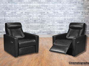cinema seating leather recliners