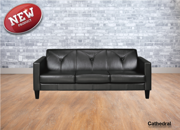 Cathedral leather sofa