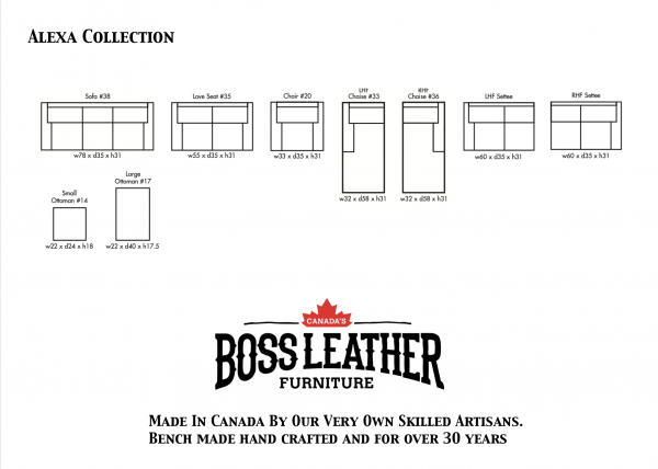 alexa collection leather sofas