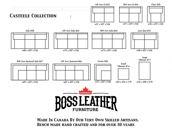 casteele leather sofas