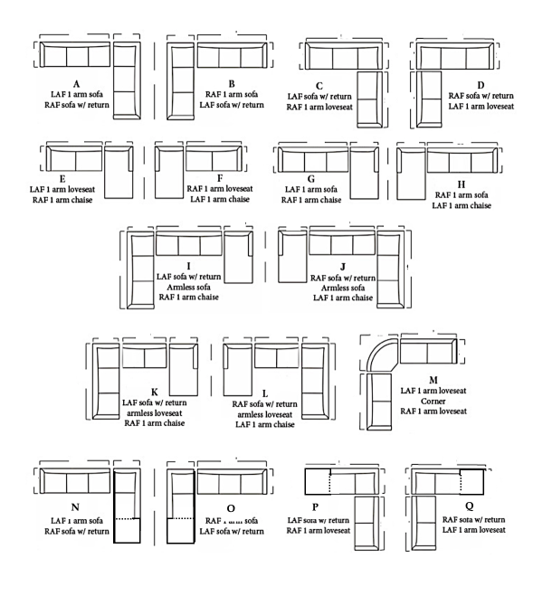 leather sectional configurations