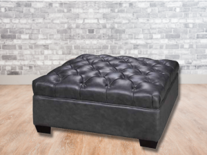 tufted leather ottoman 36